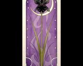 Gothic Art Nouveau Poster Print Black Orchid