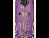 Gothic Art Nouveau Poster Print Black Rose