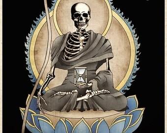 Gothic Macabre Art Print The Grim Reaper Memento Mori