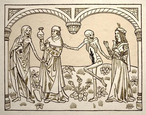 Dance Macabre Gothic Medieval Art Print Set by TigerHouseArt: www.etsy.com/listing/51030882/dance-macabre-gothic-medieval-art-print