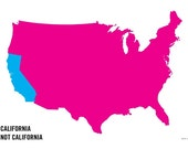 california / not california poster