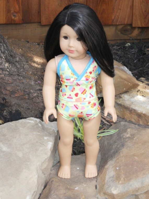 18 Inch American Girl Doll Clothes Cupcake Print Tankini Swimsuit Ready to Ship