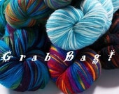 Grab Bag --  2 oz Hand Dyed Superwash Merino Mohair Nylon Sock Yarn / Fingering Weight Yarn