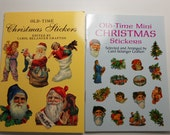 Old Time Christmas Stickers and Mini Stickers - 107 Total Stickers - Vintage - Nostalgic