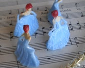 NEW COLOR miniature blue color princess (6) / for your crafts / cake toppers