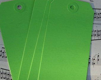 12 green shipping tags / for your crafts