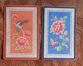 Vintage playing cards- Faux Stitches