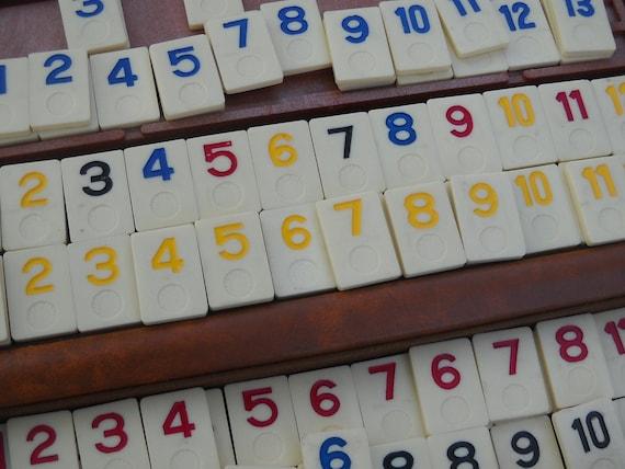 vintage number tiles for your crafts