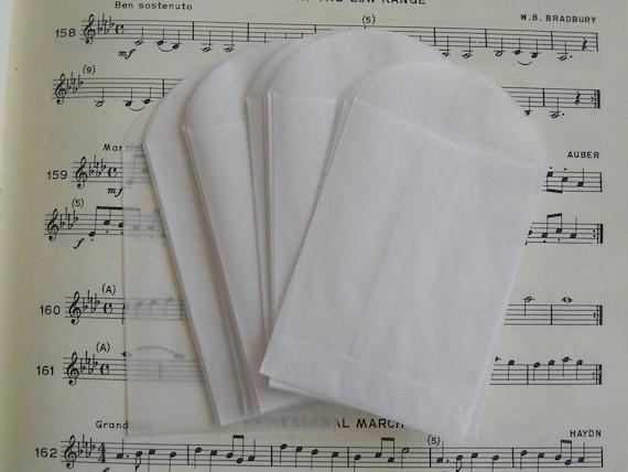 25 acid free glassine envelopes