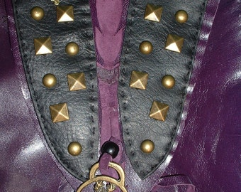 Steampunk Purple & Black 'Stag' Bag