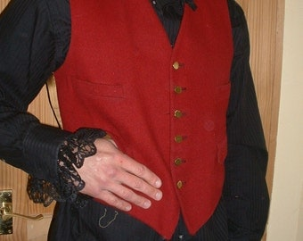 Steampunk  Gents Black Fop Shirt XL 46""