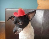 Cowboy hat for dog or cat red color