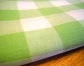 Charming Vintage Shabby Chic Green and White Gingham Fabric - St Patrick's Day