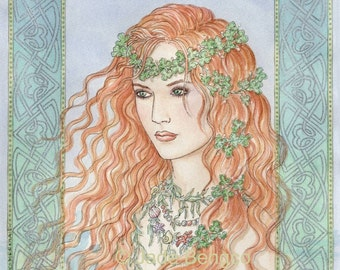 CELTIC MERMAIDEN limited edition art print