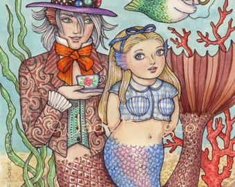 ALICE UNDER The SEA Limited Edition Art Print