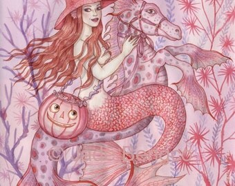 HALLOWEEN IN PINK limited edition art print