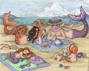 AFTERNOON at the BEACH limited edition art print