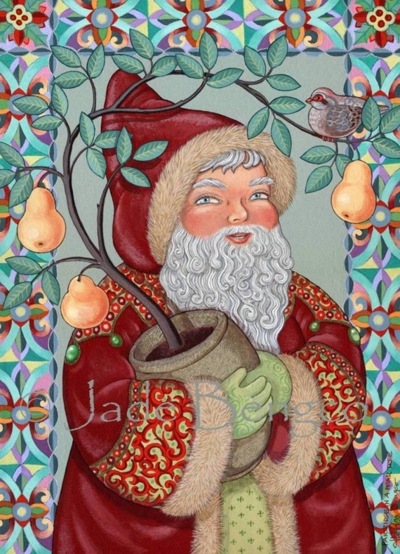 PARTRIDGE In A PEAR TREE - limited edition art print