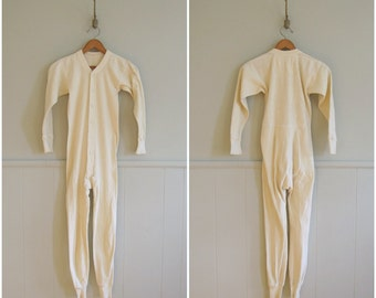1940s vintage cotton long johns workwear onesie