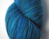Tropical Water  - green blue purple sock yarn