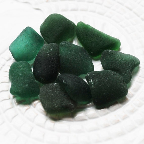 Teal Seaglass. Jewelry Supply. Mosaic Supply. 10 Pieces. Undrilled. Lot A2