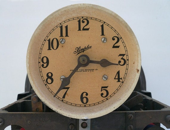 Industrial Simplex  Time Recording Work Punch Clock