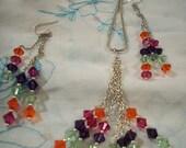 CUSTOM ORDER Bold Cascading Swarovski Crystal Necklace