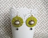 Chartreuse Green Dangle Earrings