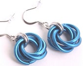 chainmail earrings mobius anodized aluminum nickel free