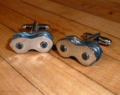 Cuff Links Mens Bicycle Chain Bike Chain Upcycled - Cyclist Racer - Mountain biker - Motorbike