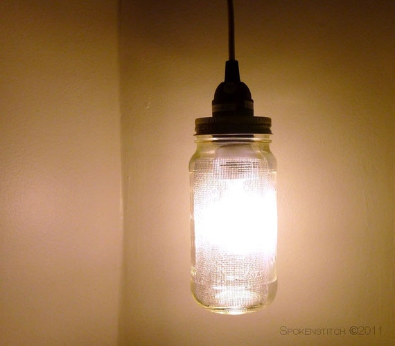 Mason Jar Pendant Lamp Saucy Hanging Jar Lamp