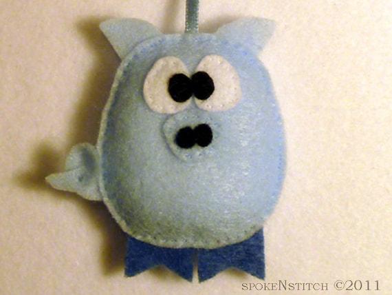 Felt Christmas Ornament - Pierre the Baby Pig