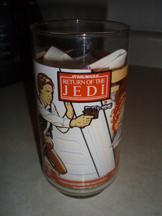 Star Wars 1983 Return of the Jedi  Hans Solo Glass