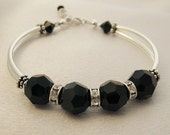 Swarovski Black Bangle Bracelet