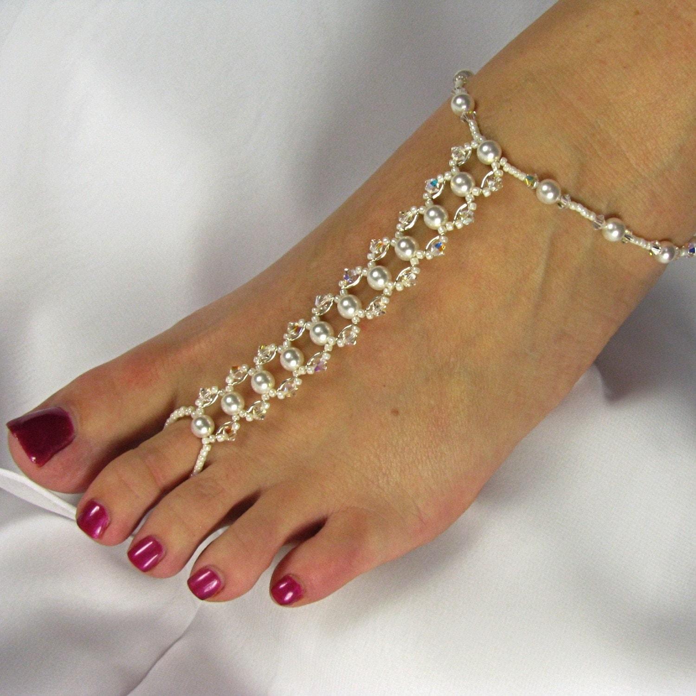 bridal foot jewelry barefoot sandals foot by twobewedjewelry