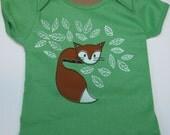 Fox Baby Shirt Cotton Grass
