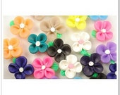 20 PCS Mixed Color Fimo Polymer Clay Flower Beads 15mm