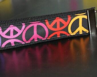 Peace Sign Wristlet Multi Colored