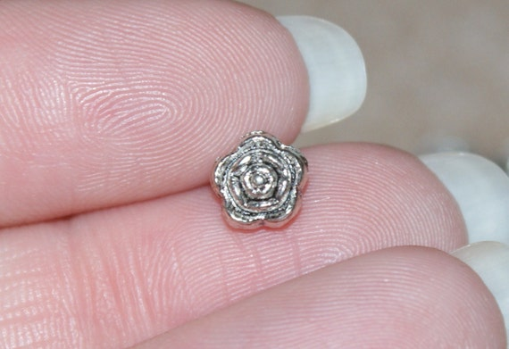 Pewter Flower Spacer Beads (100 Beads)