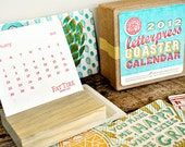2012 & 2011 Letterpress Coaster Calendars - RESERVED for Laura Mullen