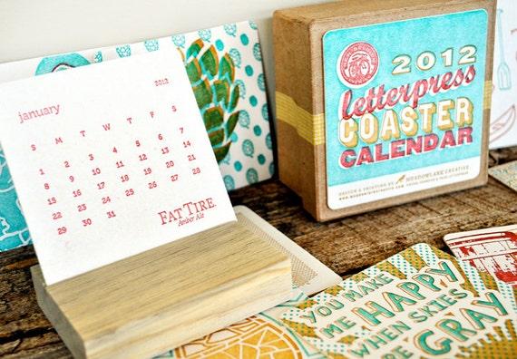 2012 Letterpress Coaster Calendar (New Belgium Brewing)