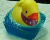 Unscented Small Rubber Duck Soap in a Glycerin Base