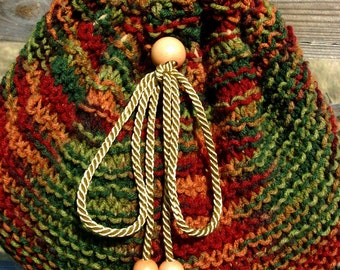 Discount Item, FALL SHOULDER PURSE Hand Knitted in varigated rusts, greens, browns, Pillow soft, Was 49.50, Now just 29.70,  RedRobinArt