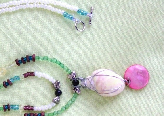 Bargain, Ocean Shell Necklace,Handmade, Unusual, Super Sale, Free Shipping, Was originally 24.95