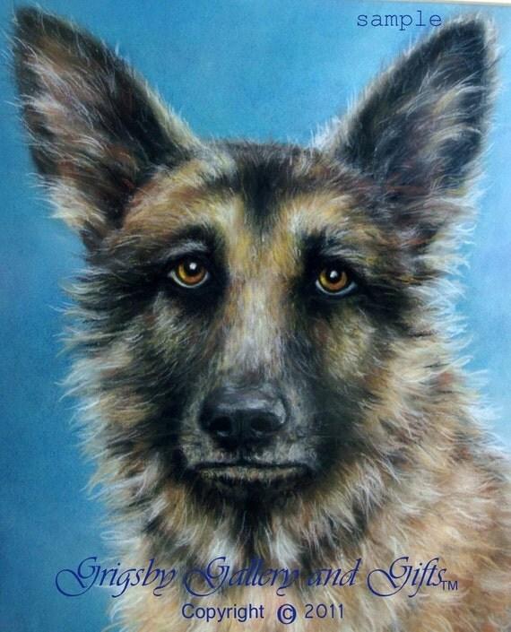 """SAMPLE of Fine Art, Soft Pastel, """"HARRY"""" 16 x 20, Commission your Pet Portrait today"""