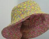 RESERVED FOR SHANNON Bucket Hat - Reversible - Flower Girl