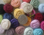 Choose your own colors-12 TINY rosettes-jewelry making, bobbypin making, hairclip making, hat making, dolls, invitations, scrapbooking...
