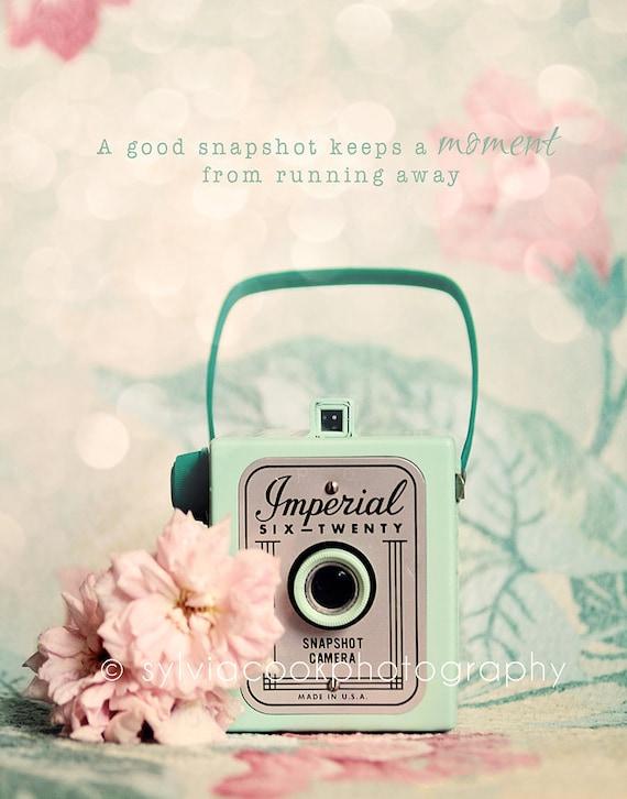 """Items similar to retro camera photograph,shabby chic decor """"a good ..."""