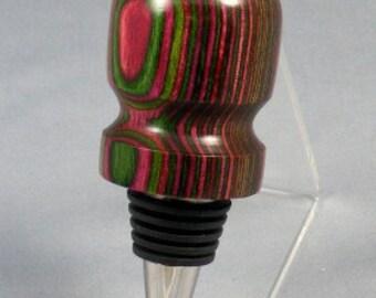 Pink and Green  Dyamondwood Mini Wine Stopper