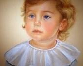 Custom Chalk Pastel Art Portrait of a Child or Pet 9x12